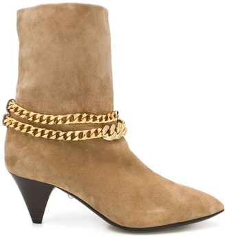 ALEVÌ Milano Chain-Detail Pointed Boots