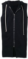 Rick Owens sleeveless hooded sweatshirt