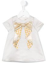 Hucklebones London origami bow shift dress