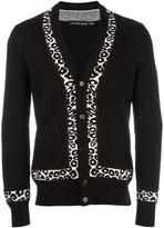 Alexander McQueen v-neck cardigan - men - Silk/Polyester/Viscose/Wool - S