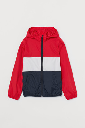 H&M Hooded Windbreaker - Red