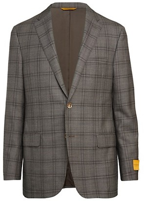 Hickey Freeman Beacon Check Wool Jacket