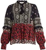 Sea Eloise printed silk blouse