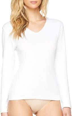 Playtex Womens 04AM Long Sleeve T - Shirt - White - 10 (S)