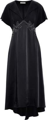 Christopher Kane Embellished Crepe And Satin Midi Dress