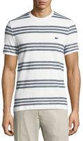 Lacoste Striped Pique Crewneck T-Shirt