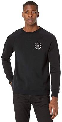 Brixton Oath V Crew (Black) Men's Clothing