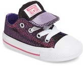 Converse Toddler Girl's Chuck Taylor All Star Double Tongue Shimmer Sneaker