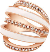 GUESS Crystal Pavé Five Band Curved Statement Ring