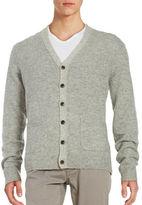 Black Brown 1826 V-neck Wool-Blend Cardigan
