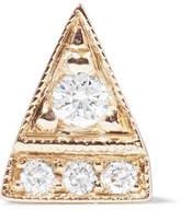Jennie Kwon Designs Deco Point 14-karat Gold Diamond Earring
