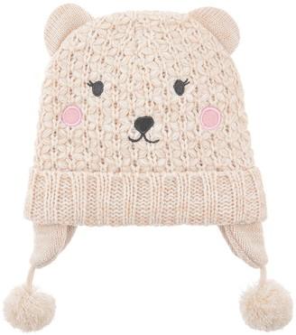 Accessorize Girls Polar Bear Chullo Hat - Ivory