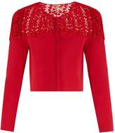 Giambattista Valli Macramé-lace panel cropped cardigan