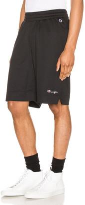 Champion Reverse Weave Mesh Basketball Short in Black | FWRD