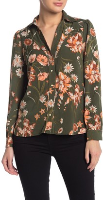 Current Air Floral Print Long Sleeve Blouse
