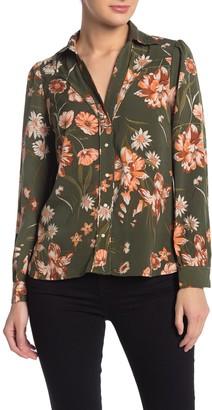 Amour Vert Floral Print Long Sleeve Blouse