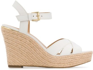Michael Kors Cross Strap Wedged Sandals