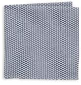 Hickey Freeman Geometric Cotton Handkerchief