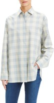 Theory Plaid Button Front Shirt