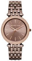 Michael Kors Darci Rhinestone Sunray Dial Stailess Steel Link Bracelet Watch