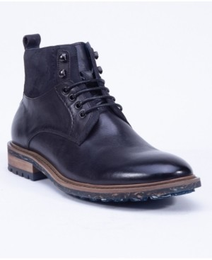 English Laundry Men's Leather Lace Up Boot Men's Shoes