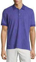 Robert Graham Paisley-Printed Short-Sleeve Polo Shirt, Purple