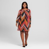 Chiasso Women's Plus Size Chevron Print Dress - Chiasso Brown