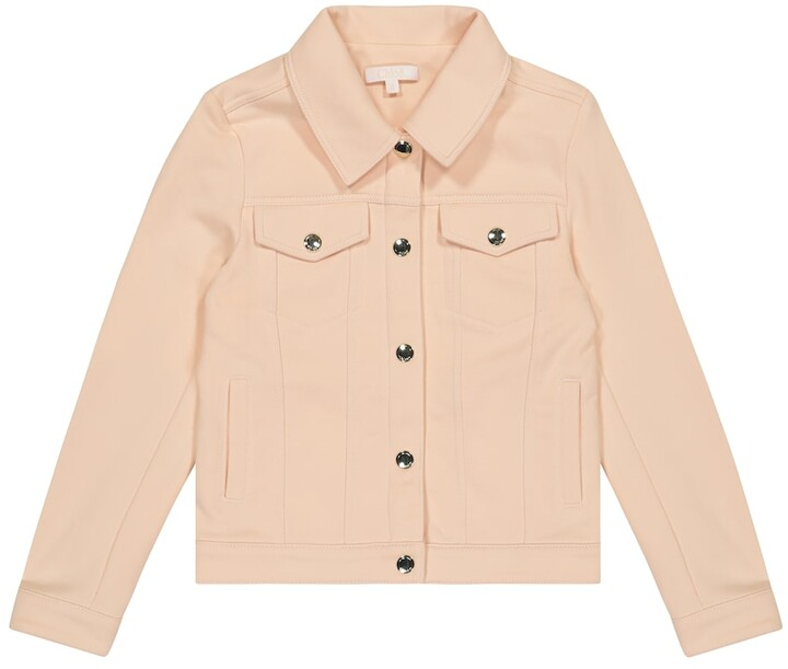Chloé Kids Cotton-blend jacket