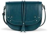 Sole Society Faylina vegan studded saddlebag w/ tie