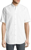Rag & Bone Smith Short-Sleeve Classic-Fit Shirt, White