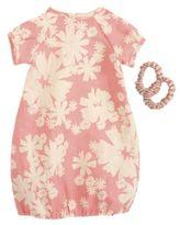 Maileg Mega Animal Three-Piece Floral Dress & Hair Bands Set