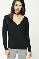 Forever 21 Wool-Blend V-Neck Sweater