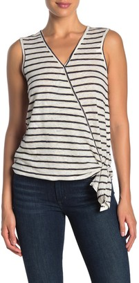 Bobeau Faux Wrap Side Tie Tank