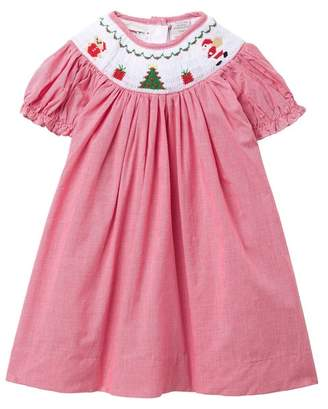 Carriage Boutique Santa Checkered Dress (Baby Girls)