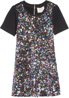 Hannah Banana Sequin A-Line Dress
