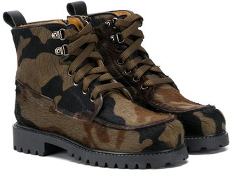 Gallucci Kids Camouflage Print Boots