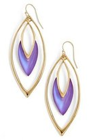 Alexis Bittar Lucite Oscillating Marquise Drop Earrings - Magenta