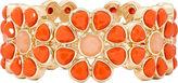 Liz Claiborne Gold-Tone Orange Stone Flower Stretch Bracelet