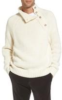 Vince Men's Side Button Mock Neck Sweater