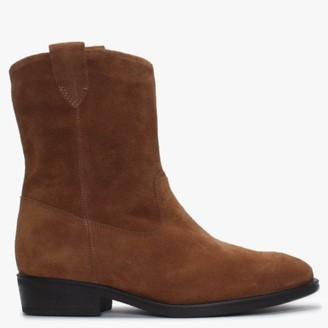 Alba Moda Tan Ankle Boots