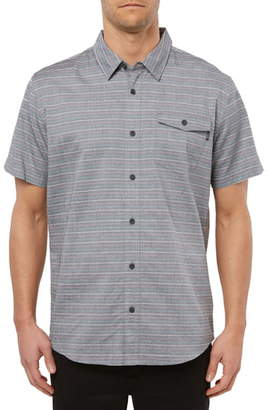 O'Neill Icon Stripe Short Sleeve Button-Up Shirt