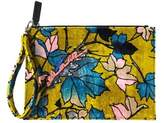 MSGM Women's Yellow Velvet Clutch.