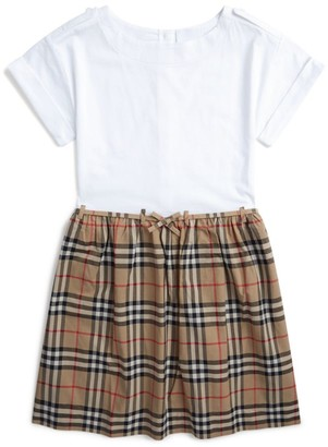 Burberry Kids Icon Check T-Shirt Dress (3-12 Years)