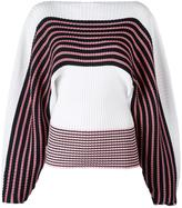 MSGM loose sleeves striped jumper - women - Cotton - S