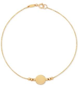 Macy's Beaded Disc Bracelet in 10k Gold