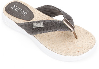 Kenneth Cole Reaction Women's Sandals PEWTER - Pewter Ready Thong Sandal - Women