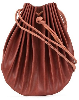 Werkstatt:Munchen Shell pleated shoulder bag