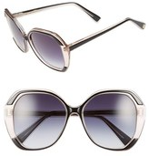 Oscar de la Renta Women's 55Mm Square Sunglasses - Black