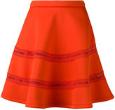 Carven skirt with lace inserts - women - Polyester/Spandex/Elastane - S