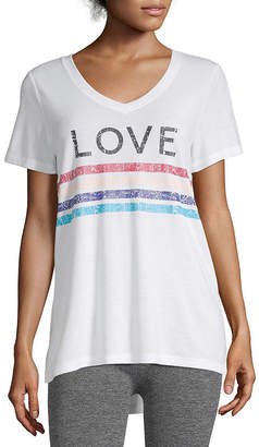 Xersion Womens V Neck Graphic Tee